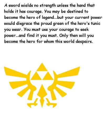 Zelda Quotes Classy Legend Of Zelda Quote Hero's Shadecrazysonicfan27 On Deviantart