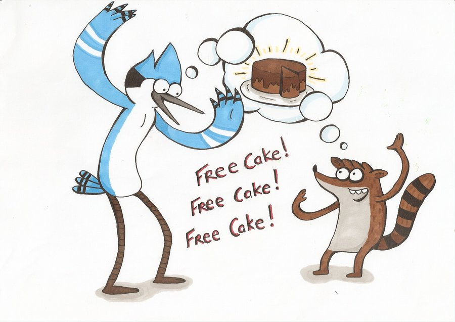 reguler show free cake by coolpets on deviantart