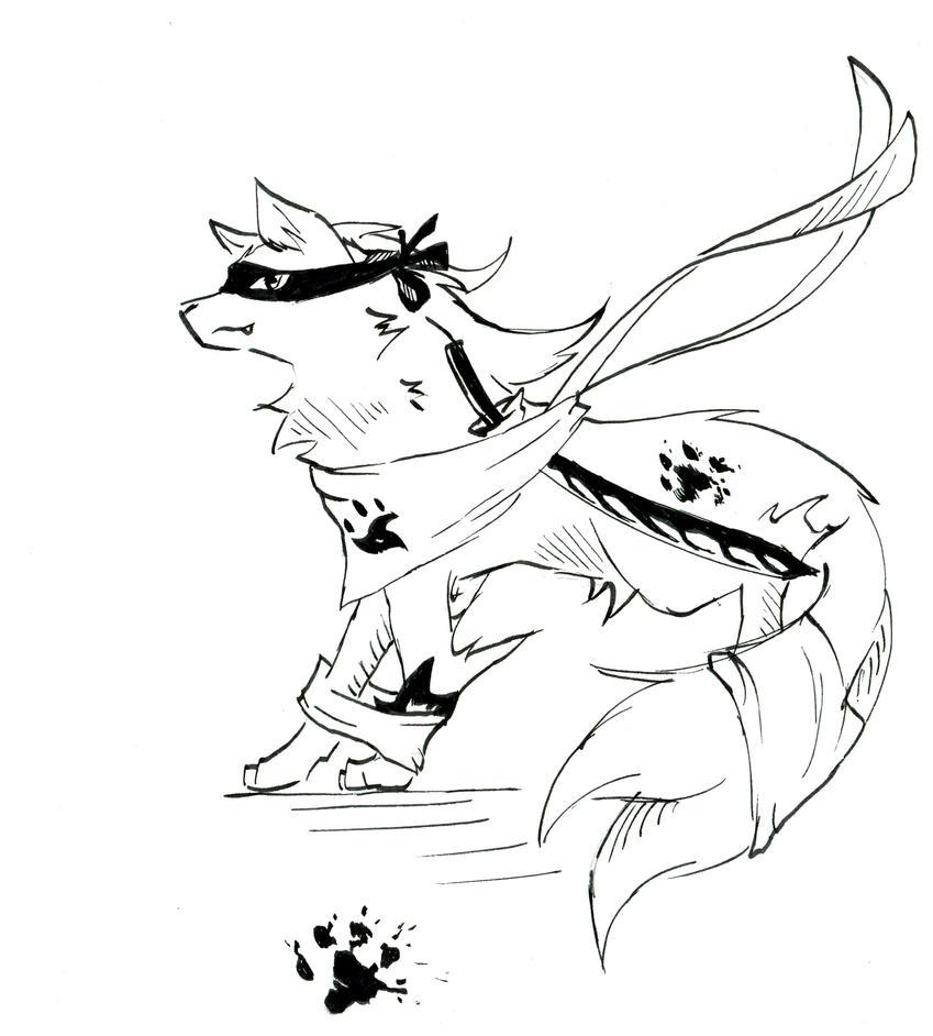 Ninja wolf by Dracospire