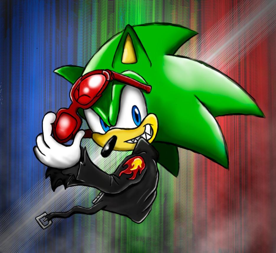 scourge the hedgehog by: JKLG by JKLGart