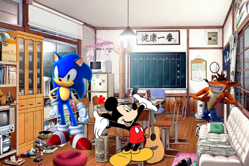 Mickey, Sonic and Crash