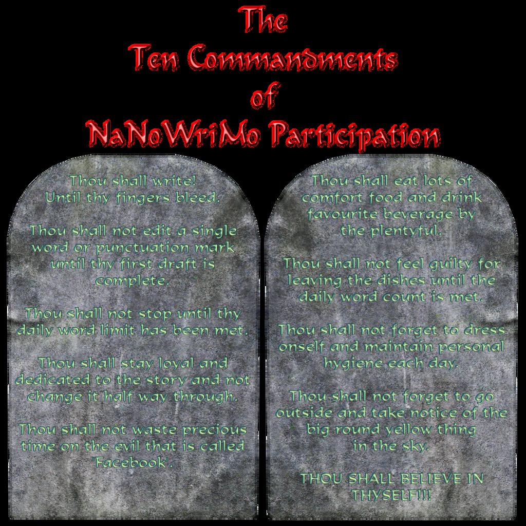 Nano-commandments by KCRileyGyer