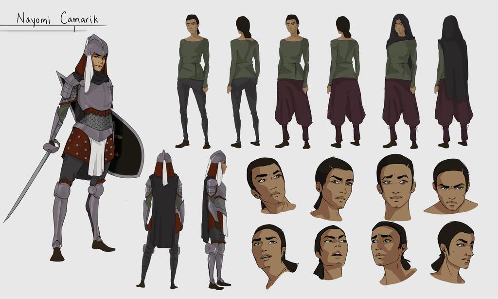 Nayomi character sheet by Senekha