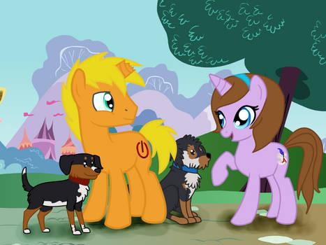 Alisa and Ira ponies
