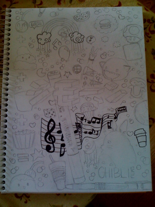 Cool Notebook Cover Designs ~ Binder cover wip by syox on deviantart