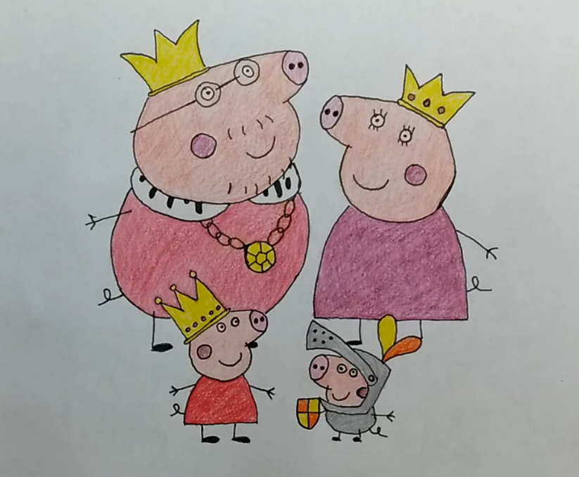 Peppa Pig Royal Family by LearningToDrawCanal
