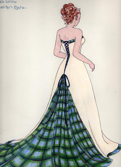 Wedding dress design by plaidcat