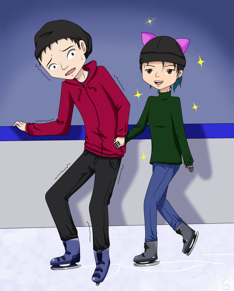 Skating... by Anonymous---Lucifer