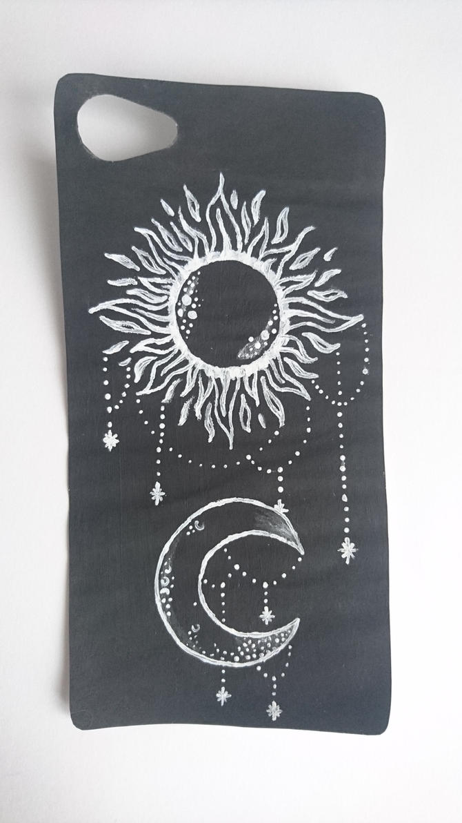 Sun and Moon phone case by Anonymous---Lucifer