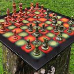 Art chess n. 3. set ablaze
