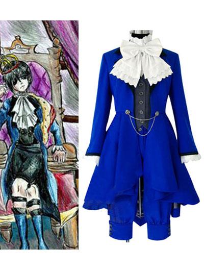 Kuroshitsuji Ciel Phantomhive Blue Cosplay Costume by morseedwina
