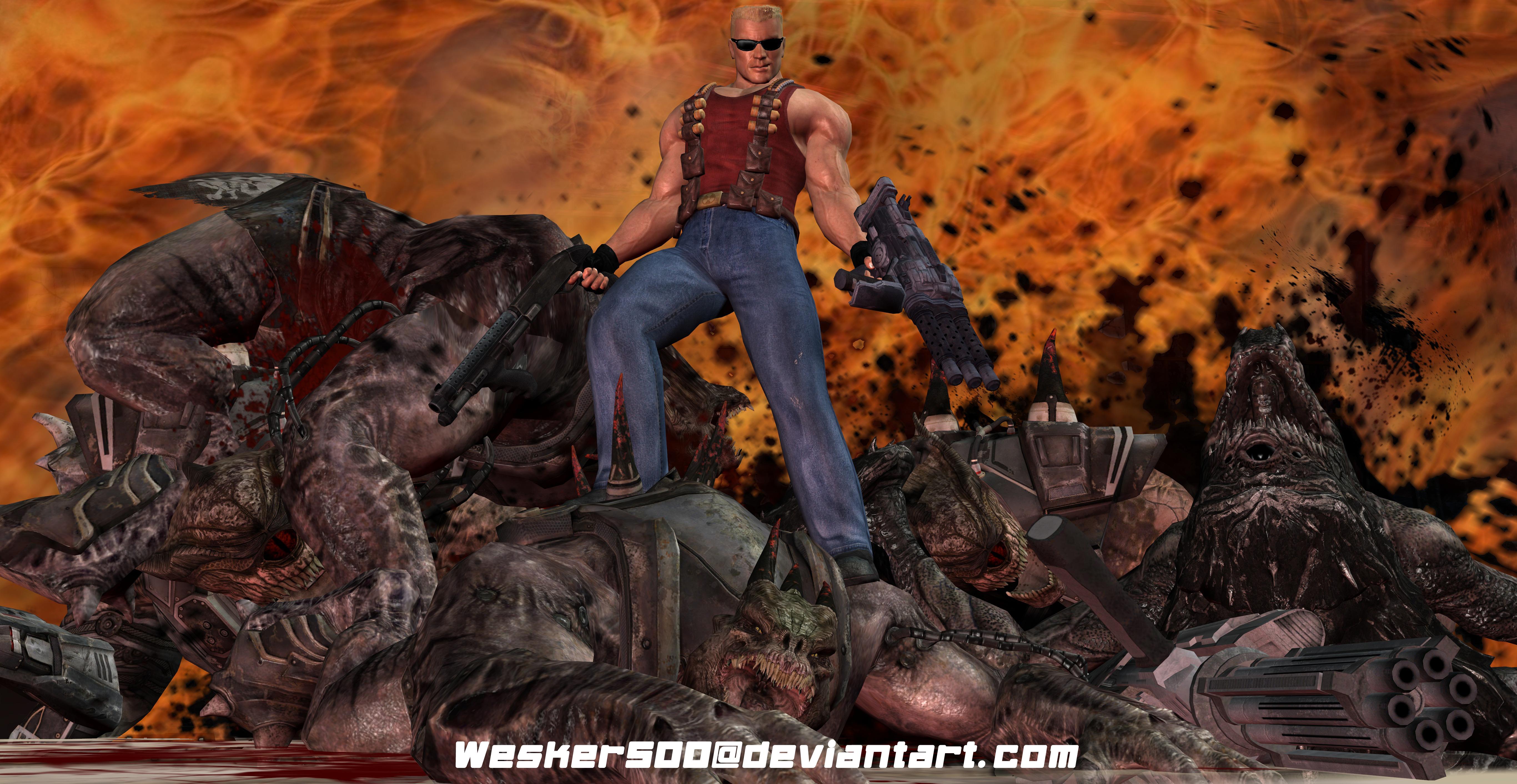 Duke Nukem 3D Pose By Wesker500