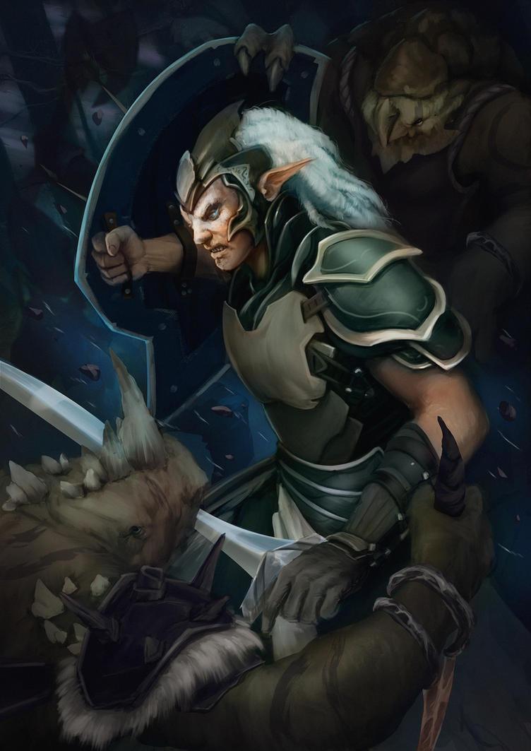 young elf fighting by AlexLazar