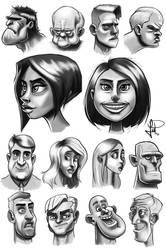 Bocetos de caras y expresiones by alvarezpacios