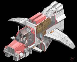 Distribucion nave espacial