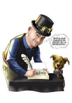 Caricatura escritor Javier Torras