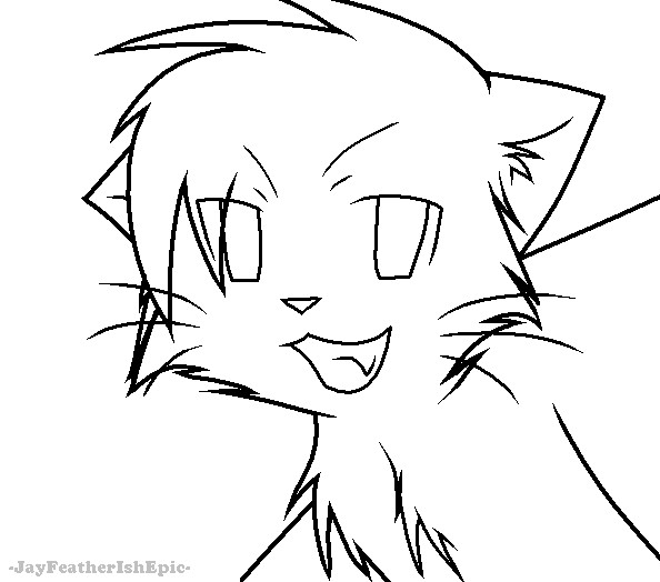 Warrior cats lineart by jayfeatherishepic on deviantart Coloring book wiki