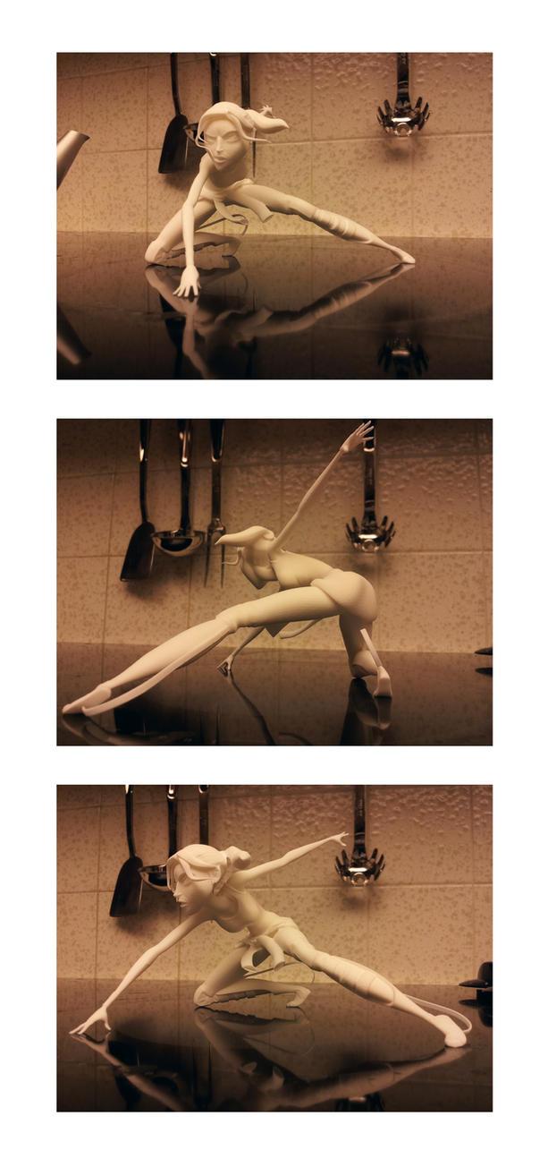 Chell Figurine Turnaround by alexzemke
