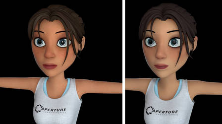 Chell textures by Nha Hoang -- Update