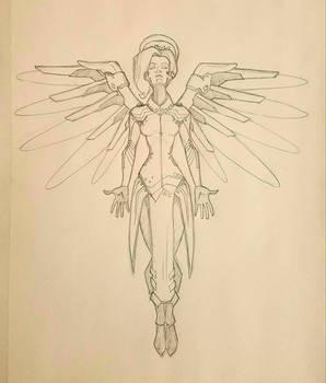 Overwatch Mercy Sketch