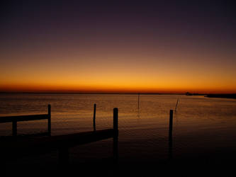Sunset at the dock by rantbs