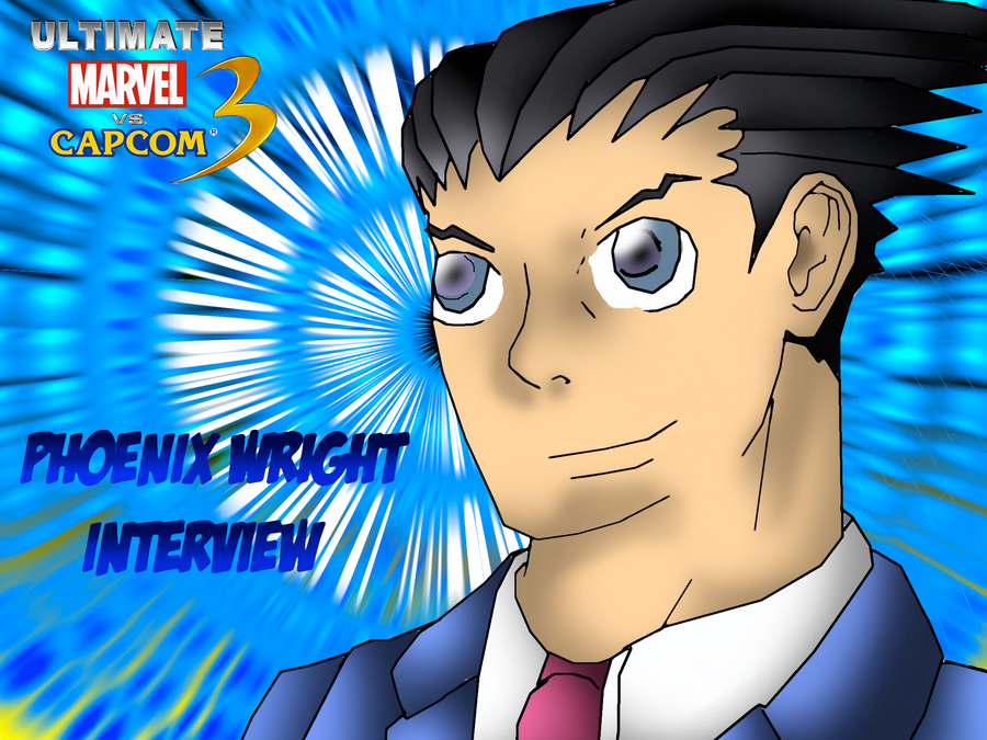 Phoenix Wright Interview Wallpaper By CrossoverGamer