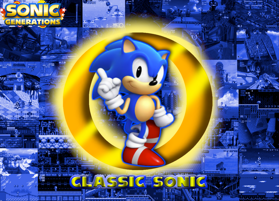Classic Sonic Remixes Wallpaper By CrossoverGamer