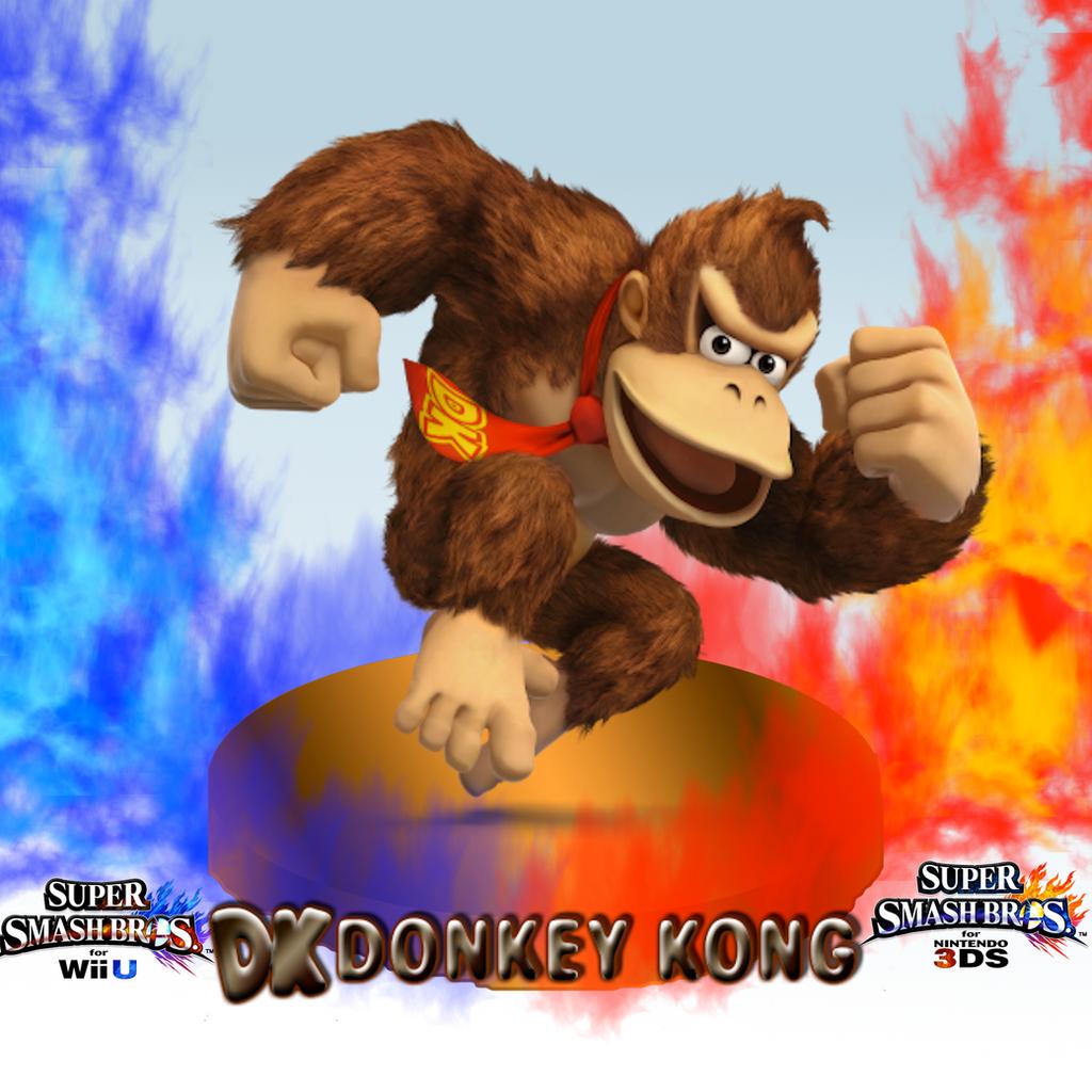 super smash bros wii u3dsdonkey kong wallpaper by