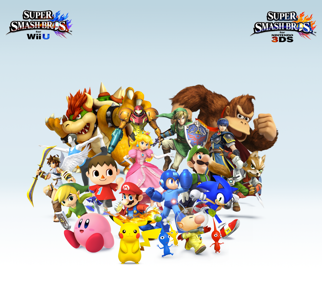 Super Smash Bros. Wii U/3DS Group WallpaperV3 by CrossoverGamer