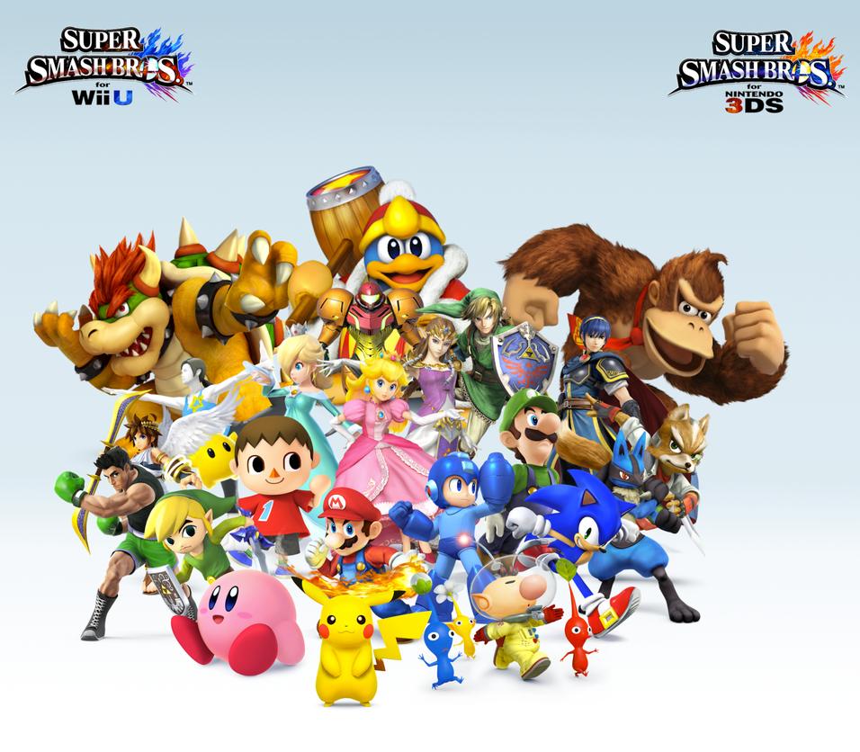 Super Smash Bros Wii U 3DS Group Wallpaper V8 By CrossoverGamer