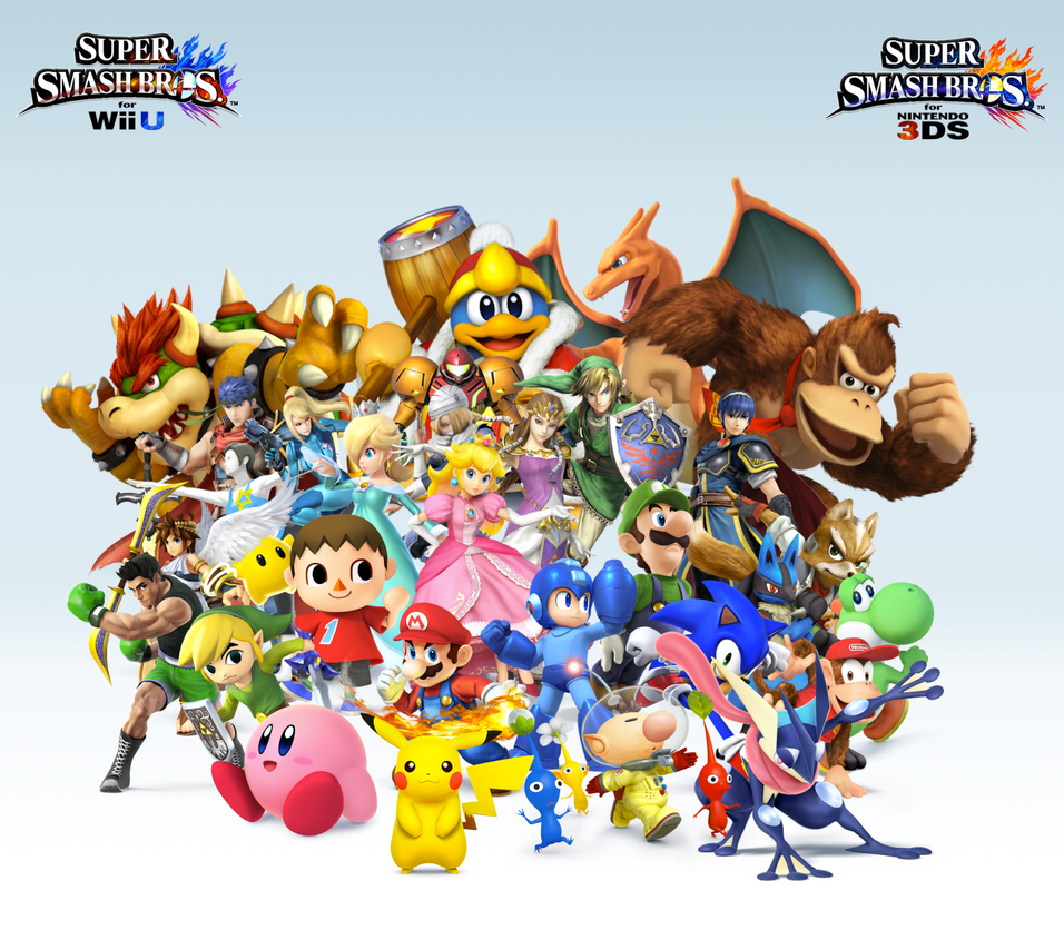 Super Smash Bros. Wii U/3DS Group Wallpaper v11 by CrossoverBrony