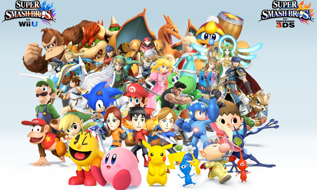 Super Smash Bros Wii U 3DS Group Wallpaper V12 By CrossoverGamer
