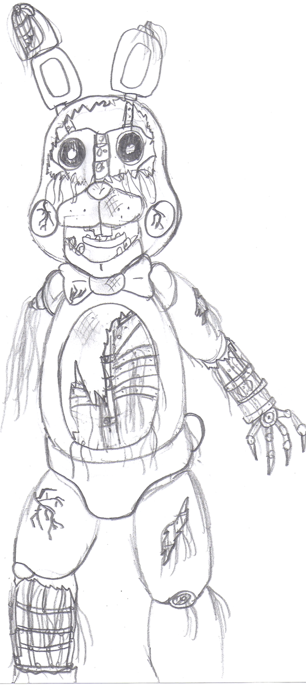 withered bonnie by crossovergamer on deviantart
