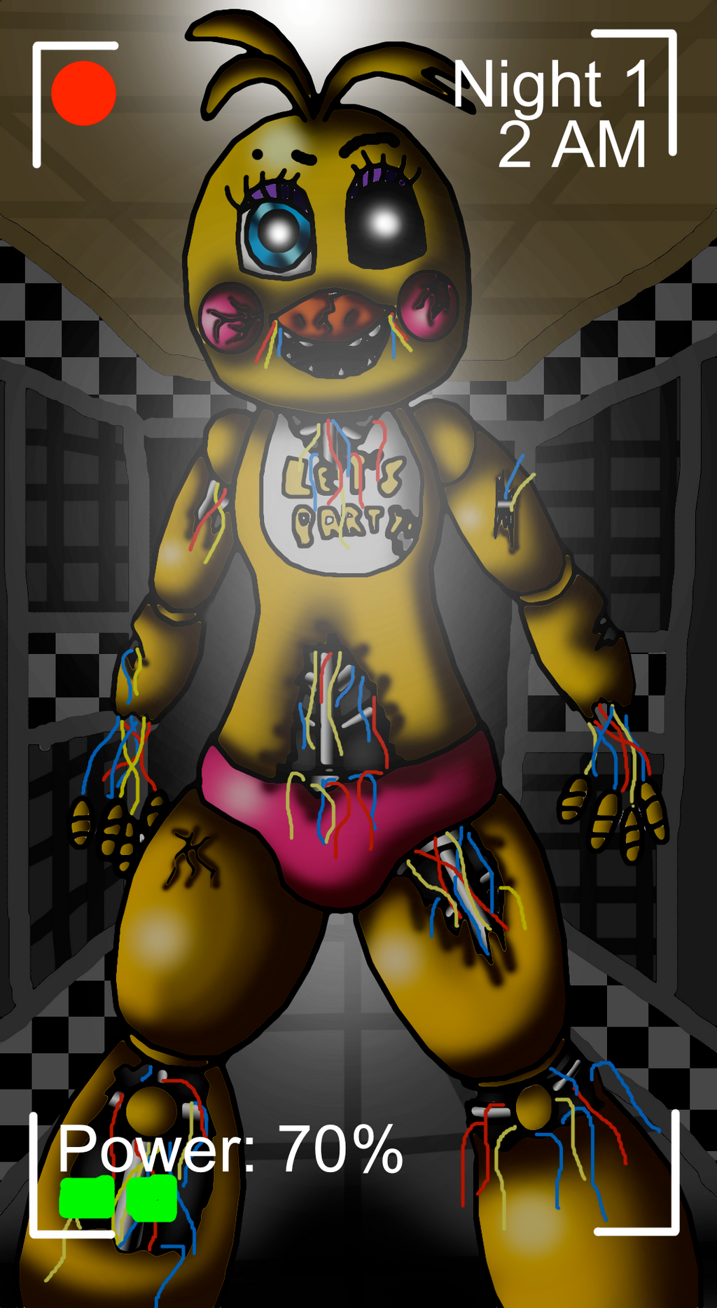 Withered toy chica in your hallway by crossovergamer on deviantart