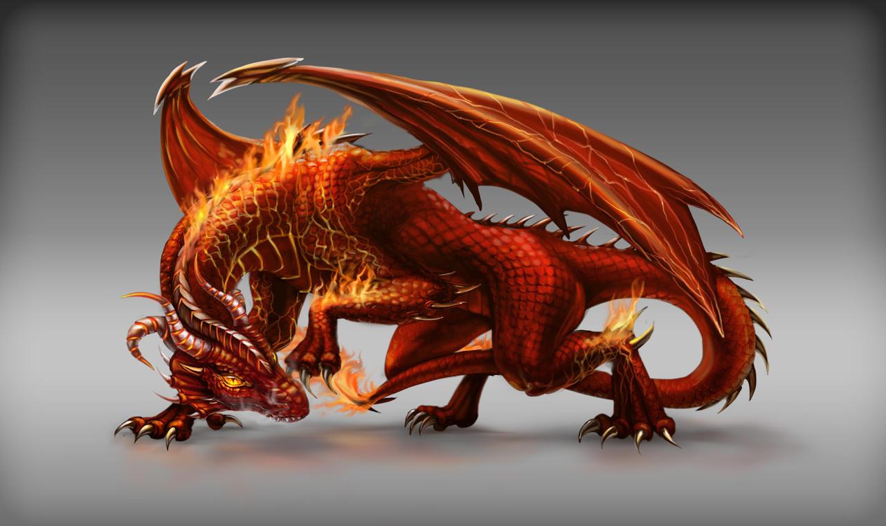 Fire Dragon game npc design