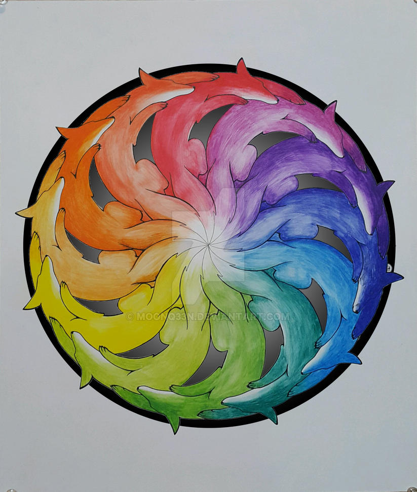 Creative Color Wheel By Moonq33n