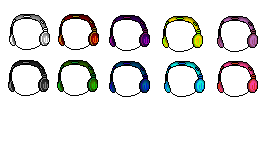 Custom Headphones [Color Pack] by HeavenlyMemories