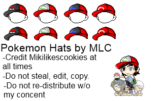 Pokemon Hat Set by HeavenlyMemories