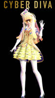 MMD TDA:Magical Cyber Diva by AmaneHatsura