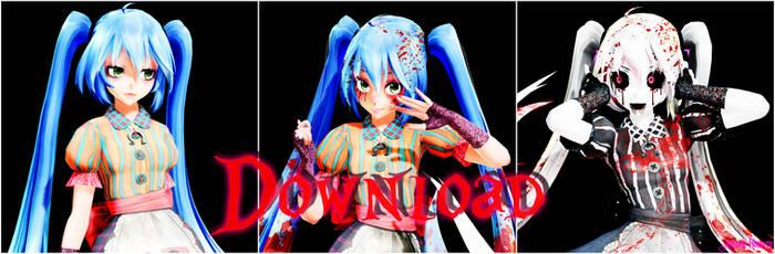 MMD TDA:Miku Doll (A.M.R) v2 Download!!