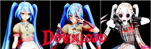 MMD TDA:Miku Doll (A.M.R) v2 Download!!