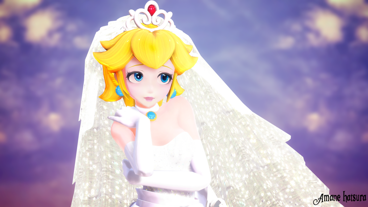 MMD TDA: ~Princess Peach Bride~ by AmaneHatsura on DeviantArt
