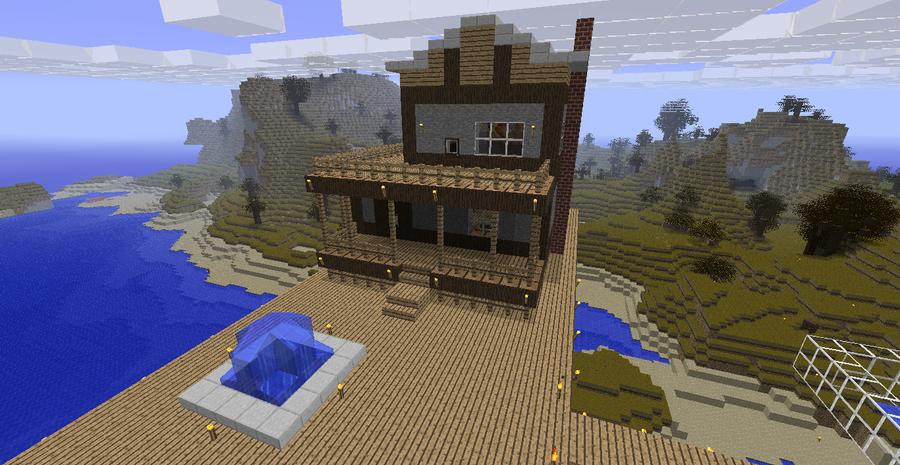 Смотреть как сделать красивый дом в майнкрафте 64