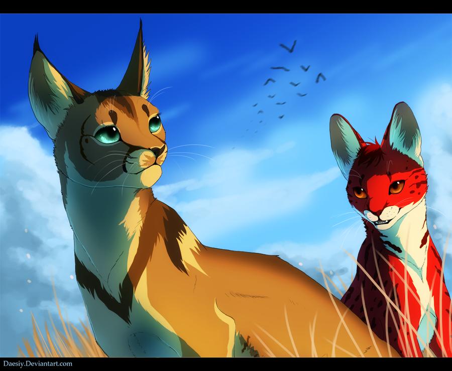 Blue Skies and Bright Eyes by Daesiy