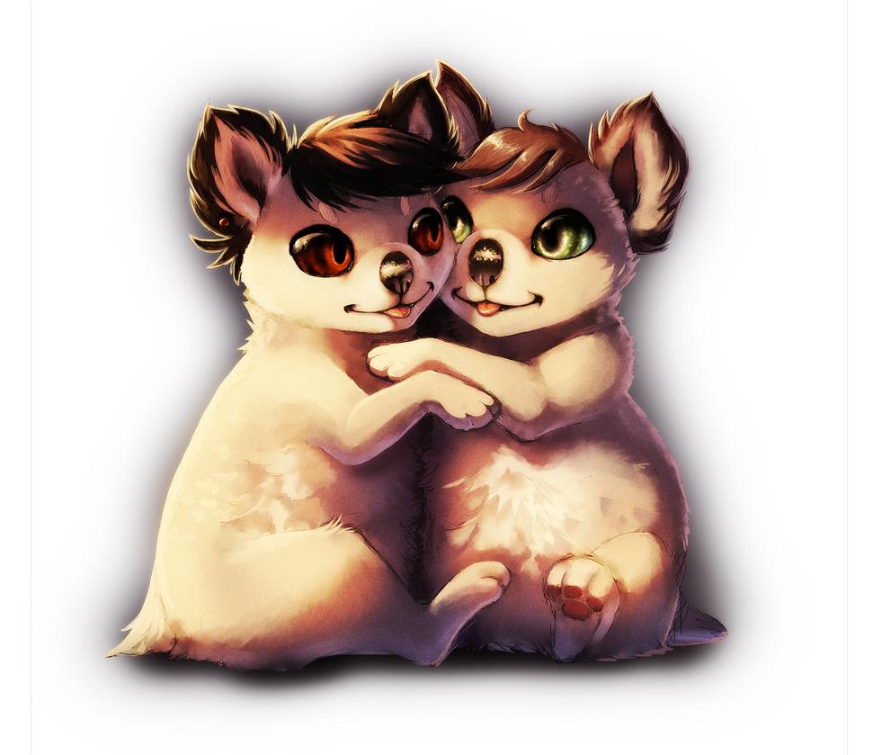 Koala Hugs by Daesiy