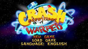 Crash Bandicoot Warped Main Menu