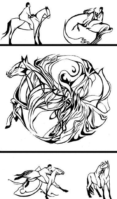 Horse Line Drawing Tattoo : Designs for horse tattoo by tstar on deviantart
