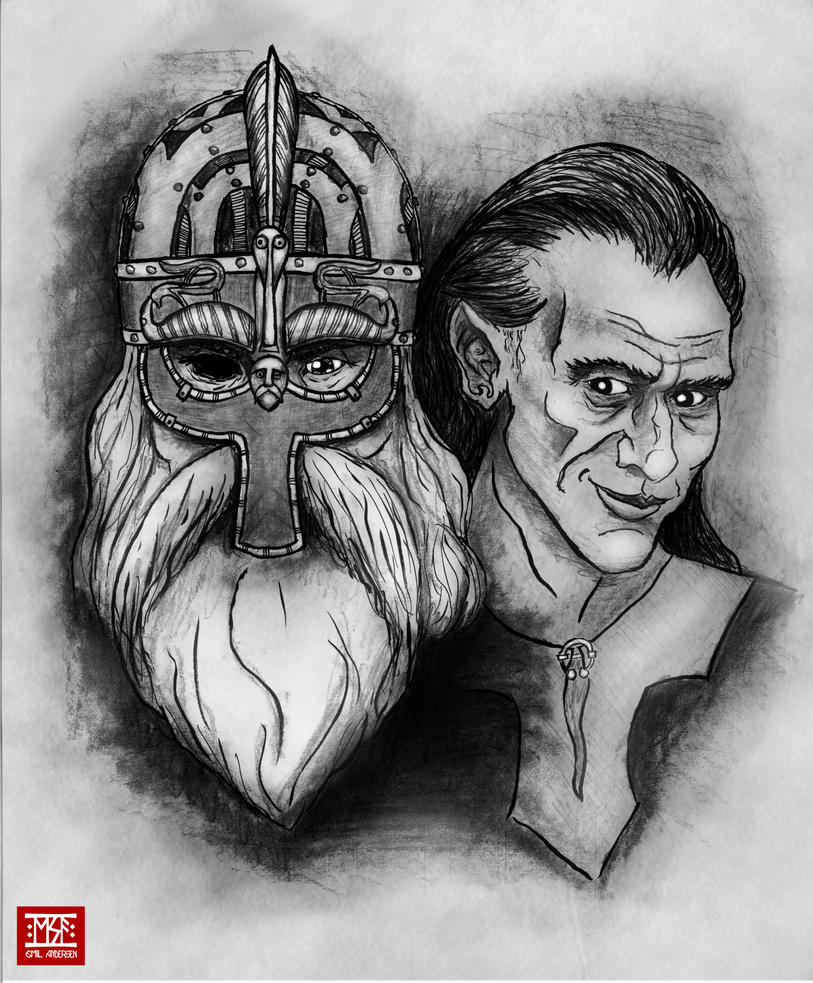 Odin And Loki by emilsa