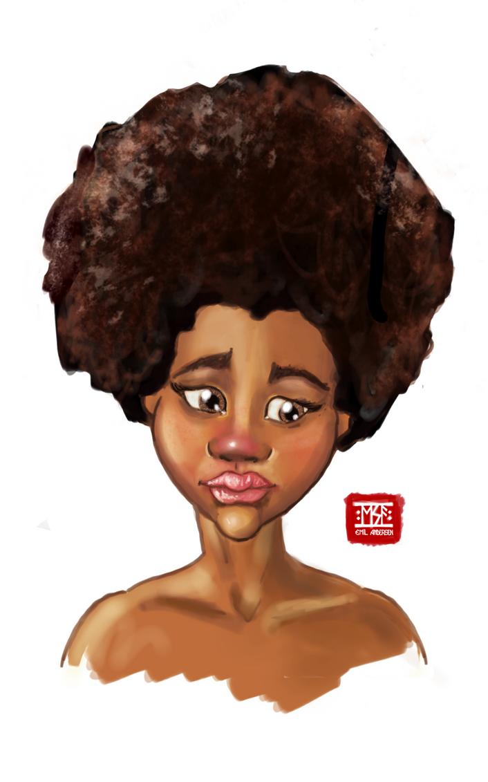 African girl by emilsa