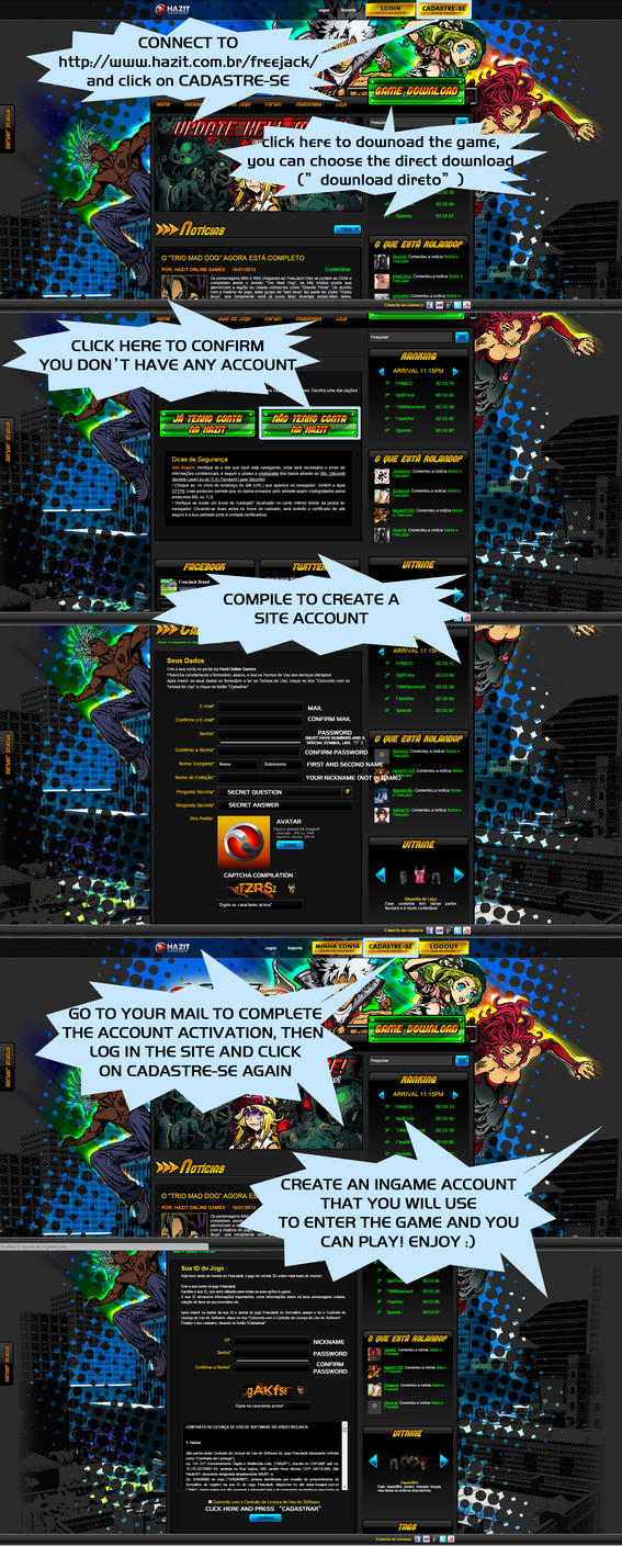 Brasil Freejack - How to create an account by macuapo89